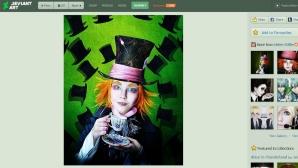 Hinter dem Kostüm versteckt sich eine junge Frau. ©Screenshot: Helen Stifler / Deviant Art