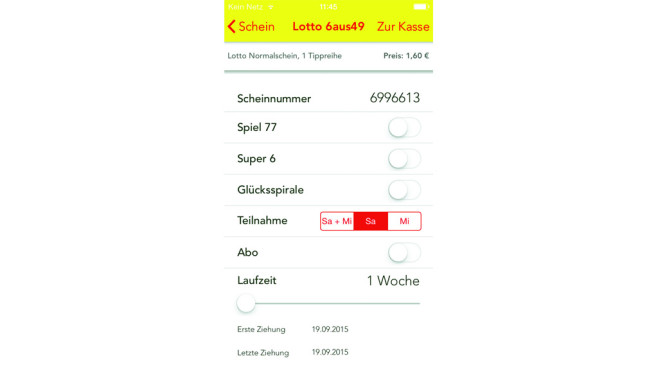 Screenshot Golotto © COMPUTER BILD