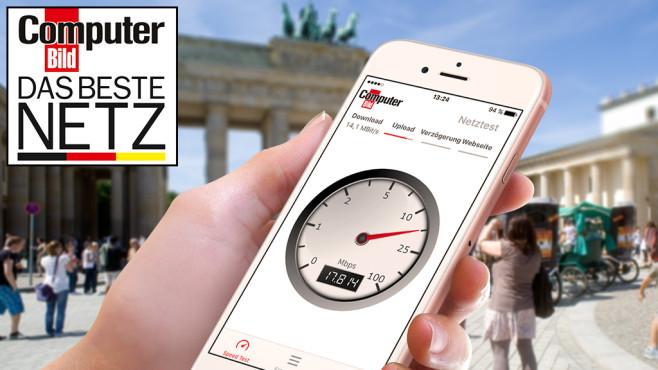 Der größte Mobilfunk-Test Deutschlands: Handy-Netze auf dem Prüfstand Wo surfen Sie in Deutschland mobil am schnellsten? Der große COMPUTER BILD-Netztest zeigt gnadenlos alle Stärken und Schwächen der großen Anbieter. ©COMPUTER BILD, ©istock.com/Bernd Wittelsbach