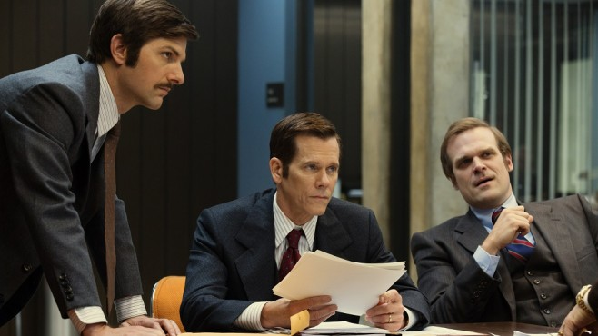 Szene aus Black Mass: Adam Scott, Kevin Bacon, David Harbour © Warner Bros./Claire Folger