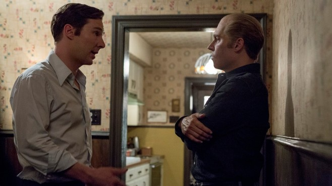 Szene aus Black Mass: Benedict Cumberbatch, Johnny Depp © Warner Bros./Claire Folger