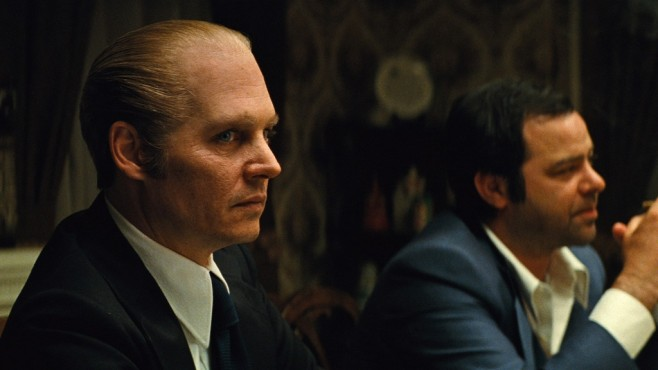 Szene aus Black Mass: Johnny Depp, Rory Cochrane © Warner Bros. Pictures