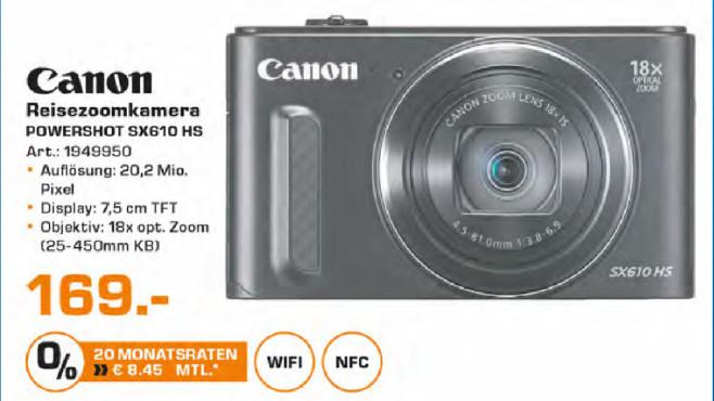 Canon PowerShot SX610 HS ©Saturn