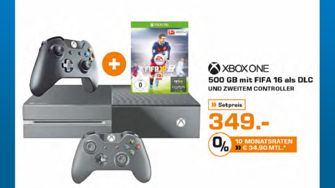 Microsoft Xbox One 500GB + FIFA 16 ©Saturn