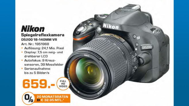 Nikon D5200 Kit 18-140 mm © Saturn