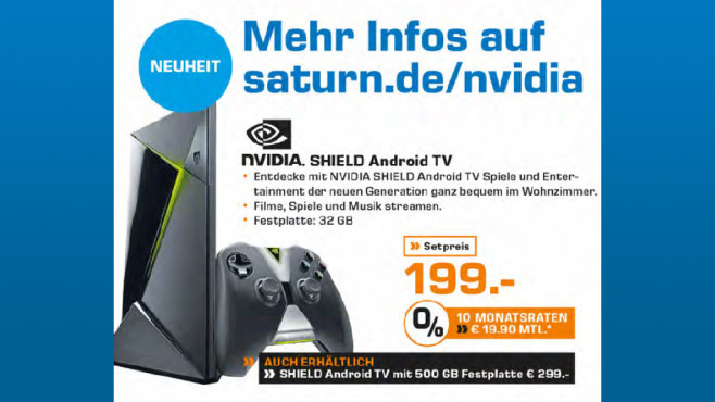 Nvidia Shield Android TV ©Saturn