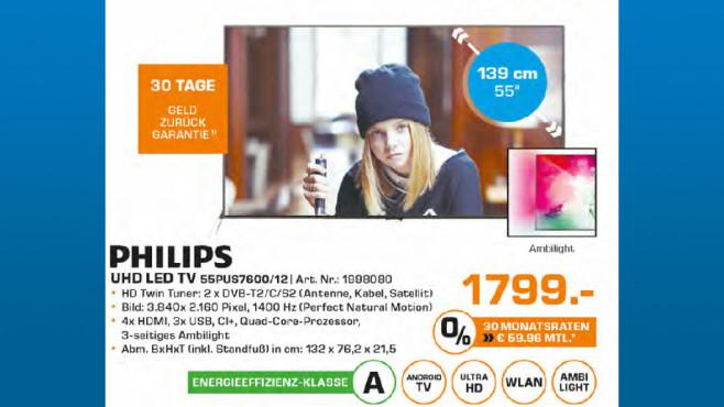 Philips 55PUS7600 ©Saturn