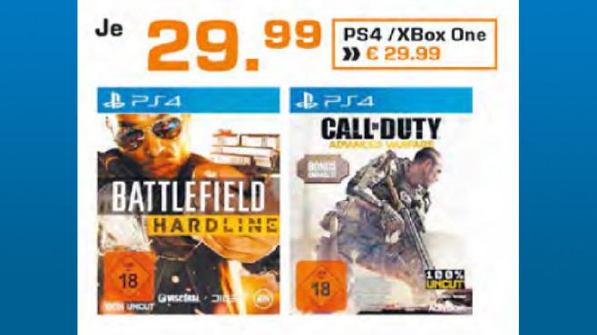 Spiele für PS4 und Xbox One ©Saturn