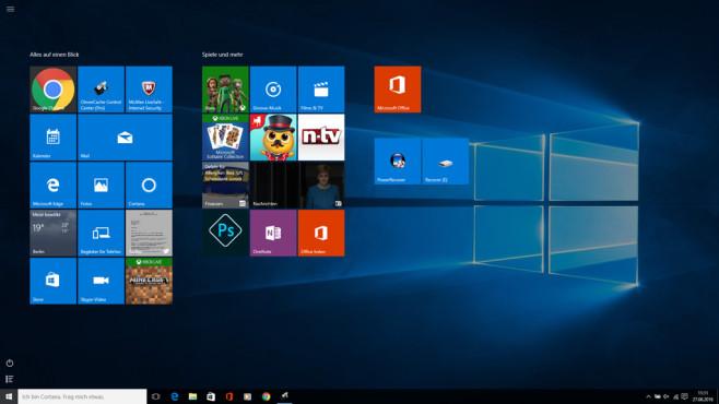 Windows 10: Betriebssystem mit Kacheln starten ©COMPUTER BILD