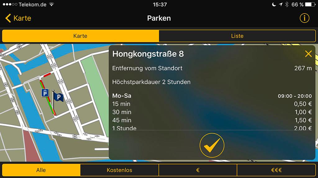 parkplatz finder navigon street parking computer bild. Black Bedroom Furniture Sets. Home Design Ideas