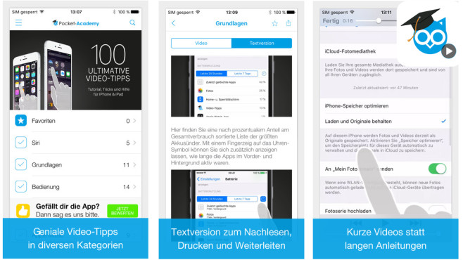 100 ultimative Video-Tipps zu iOS 9 © Falkemedia digital GmbH