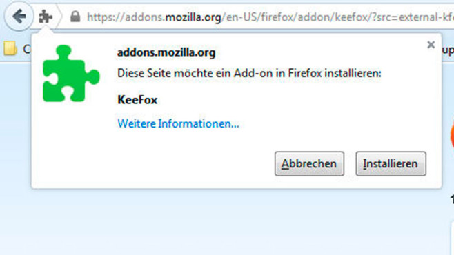 KeeFox-Installation 3 © screenshot