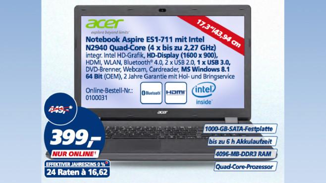 Acer ES1-711 ©Real