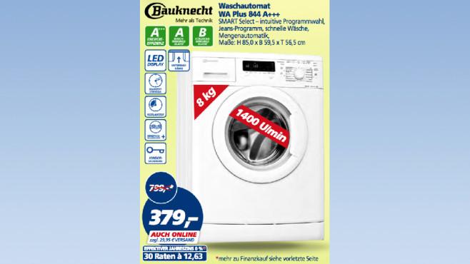 Bauknecht Waschautomat WA Plus 844 ©Real