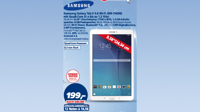 Samsung Galaxy Tab E 9.6 Wi-Fi ©Real