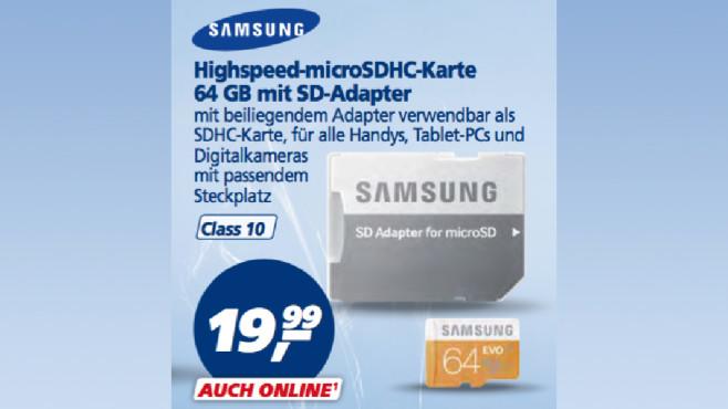Samsung microSDHC-Karte ©Real