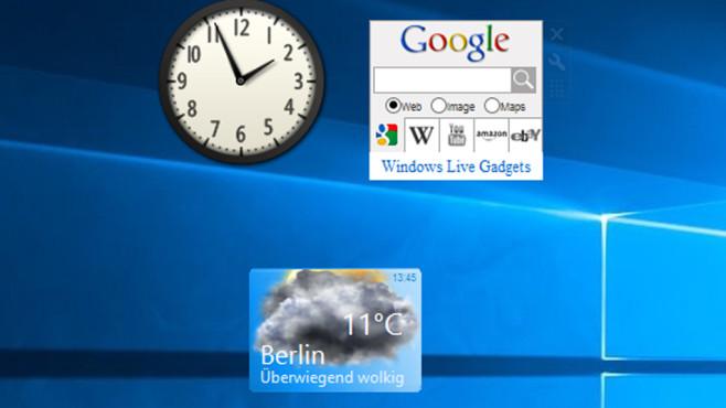 8GadgetPack: Google-Suchen vom Desktop starten ©COMPUTER BILD