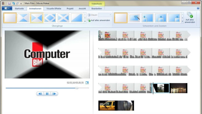 Windows Movie Maker: Videos ohne Umweg hochladen © COMPUTER BILD