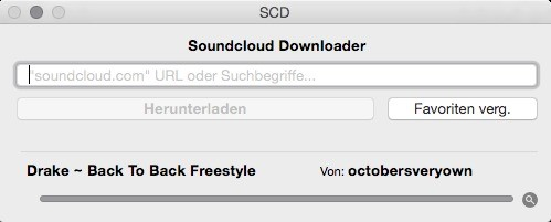 Screenshot 1 - Soundcloud Downloader (Mac)