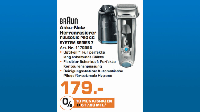 Braun Pulsonic Pro CC System Series 7 ©Saturn