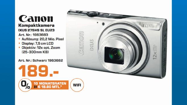 Canon Ixus 275HS SL EU23 ©Saturn