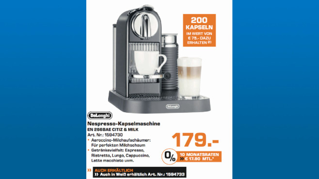 DeLonghi EN 266BAE CITIZ & MILK © Saturn