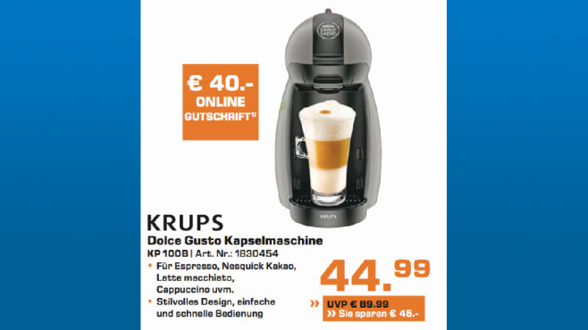 Krups Dolce Gusto KP 100B © Saturn