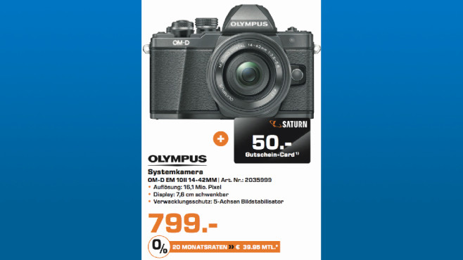 Olympus OM-D EM 10II 14-42MM ©Saturn