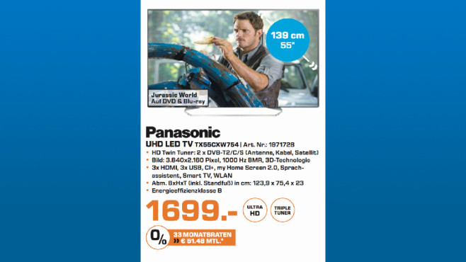 Panasonic TX55CXW754 ©Saturn