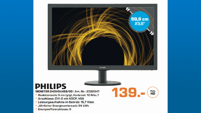 Philips 243V5LHSB/00 © Saturn