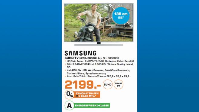 Samsung UE55JS8090 ©Saturn