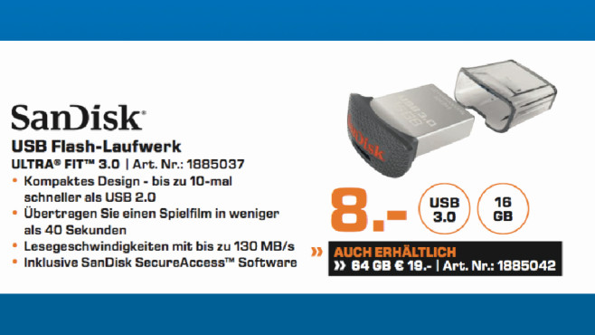 SanDisk Ultra Fit 3 © Saturn