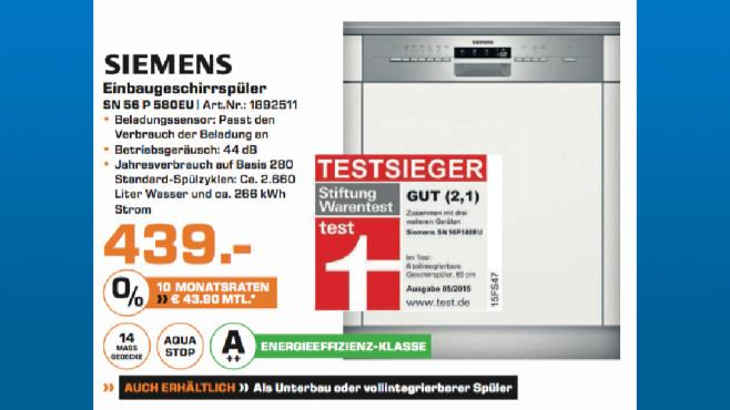 Siemens SN 56 P 580EU ©Saturn