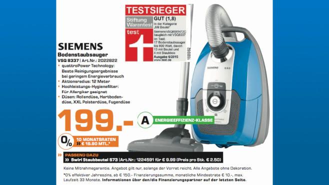 Siemens VSQ 8337 ©Saturn