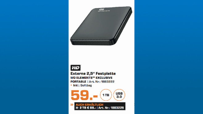 WD Elements Exclusive Portable © Saturn
