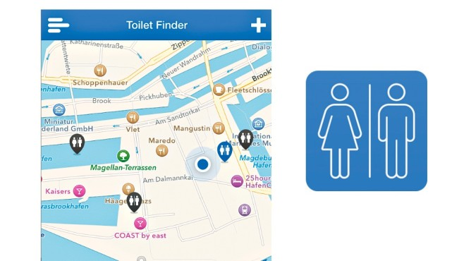 Toiletten Finder © BeTomorrow, COMPUTER BILD