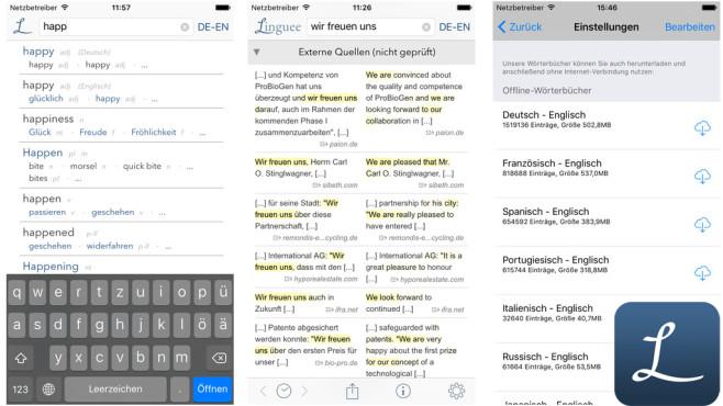 Wörterbuch Linguee ©Linguee GmbH
