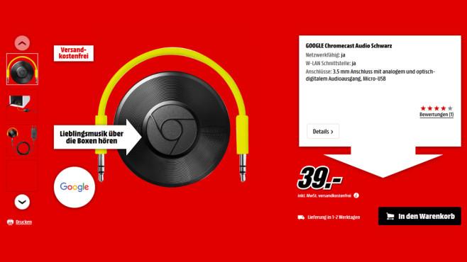 Google Chromecast Audio ©Media Markt