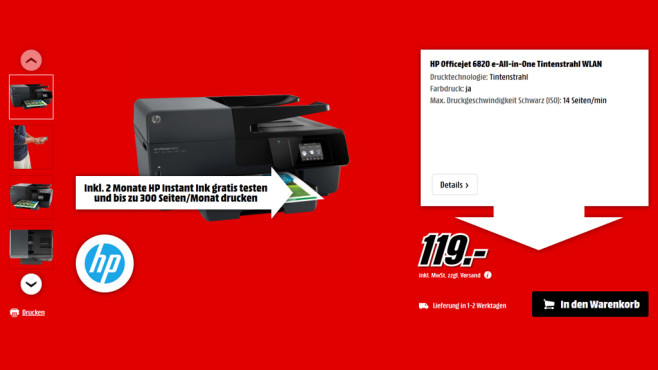 HP Officejet Pro 6820 © Media Markt