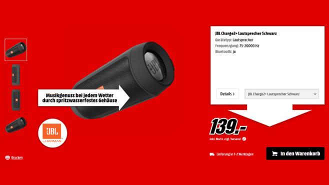JBL Charge 2+ ©Media Markt