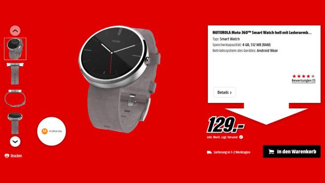 Motorola Moto 360 ©Media Markt