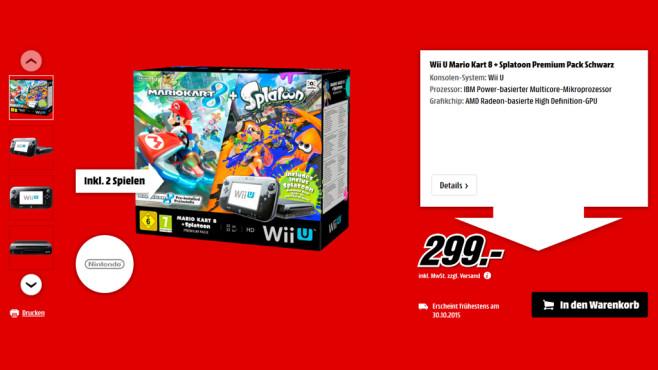 Nintendo Wii U Mario Kart 8 + Splatoon Premium Pack ©Media Markt
