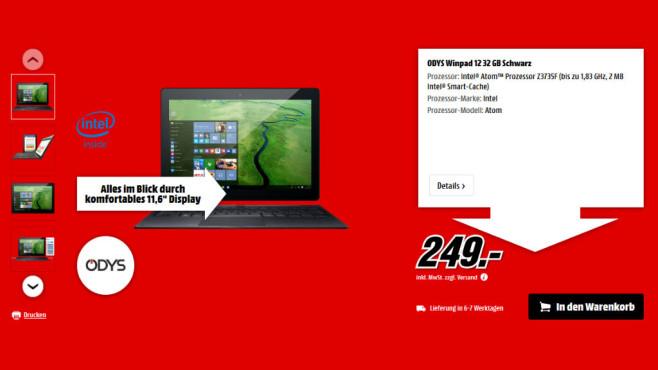 Odys WinPad 12 ©Media Markt