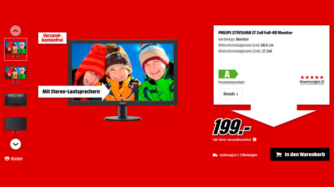 Philips 273V5LHAB © Media Markt