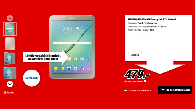 Samsung Galaxy Tab S2 9.7 32GB WiFi ©Media Markt