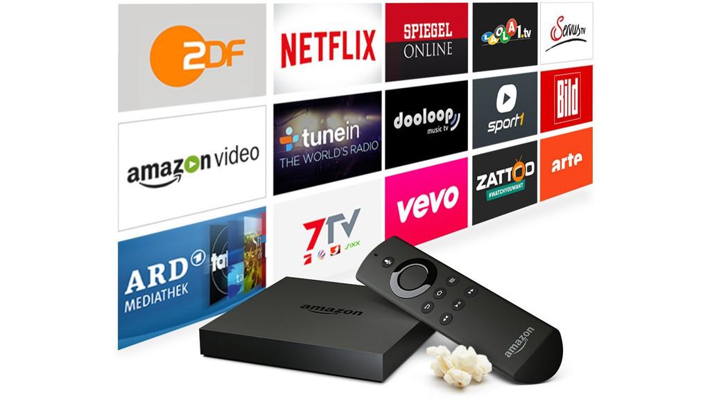 amazon fire tv einkaufen per fernseher computer bild. Black Bedroom Furniture Sets. Home Design Ideas