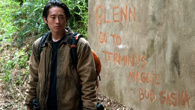 Szene aus The Walking Dead, Staffel 4: Steven Yeun © RTL II
