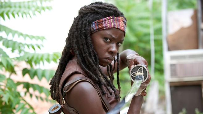 Szene aus The Walking Dead, Staffel 3: Danai Gurira © RTL II