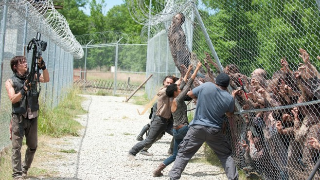 Szene aus The Walking Dead, Staffel 4: Norman Reedus, Andrew Lincoln, Cast © RTL II
