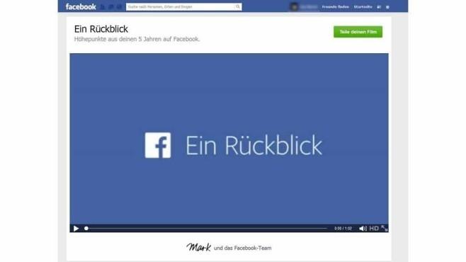 Facebook Rückblick ©Facebook